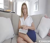 Stepmom sucked out stepsons huge load