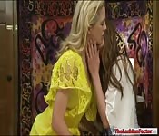 Amber Chase and Cherie Deville make out