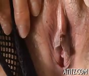 Busty Japanese's wanton toying