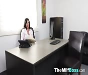 Busty Office MILF Teases Her Manager