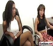 Slutty hoes in hot lesbo scene
