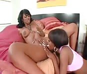 Hot black girls love licking each other's pussies