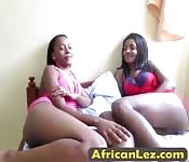 Slutty ebony babes in heat