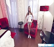 Slim Russian Gina Gerson gets hammered