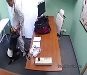 Long legged patient fucks doctor