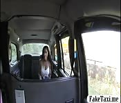 Hot passenger anal banged by fake driver