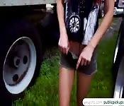 Aidra Fox makes a public sex tape for money