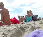 Beautiful naked women spied on at Nude beach