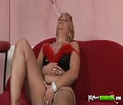 Horny Handicapped Lesbian Gets Fucked