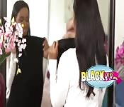 Ebony Daya Knight having lesbian sex