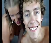 Giovane coppia in cam