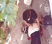 Amazing Arab girl Fucked by boyfriend in public