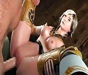 Animierte 3D-Sexszene