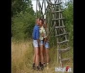 Threesome gays fucks anal getting rammed