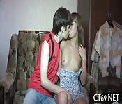 Naughty babe loves hot fuck