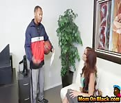 Black studs fuck slutty MILF in office