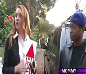 Three Black Guys Fuck Busty Redhead MILF