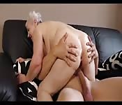 Old horny bitch is always after young hard cocks