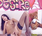 Naughty Babe Caught Masturbating On Camm