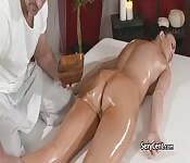 Busty slut got massaged and fucked