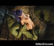 3D Busty Elf All Holes Fucked by Orcs