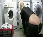 An exhibitionist struts her stuff.