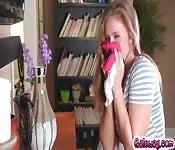 Lena sniffing Kendra's panties