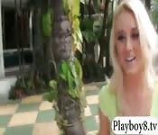 College teen blondie railed by stranger