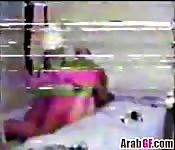 Horny Arab couple fucking in many poses