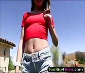 Teen Natasha White nailed by big dick