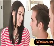 Stepmom Kendra Lust hot threesome action