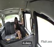 Big clit busty fucks fake taxi driver