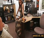 Busty whore gets screwed at the pawnshop