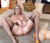 Sexy mature blonde puts on a show