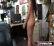 Sexy hottie chick having some cum