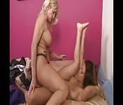 Interracial lesbian affair.