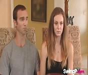 Daniel and Amanda at a swinger party