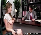 Lena Paul goes crazy for his giant dick