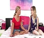Blonde lesbian teen crushes on stepmom