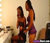 Sexy Ebony Lesbians Play With Big Toys