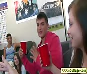 No way!? POV style double BJ in college