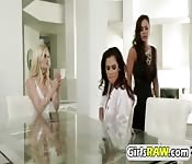 OMG! Hot pornstars in lesbian threesome