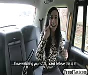 Sexy babe banged by fake driver for free