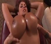 Eva Notty si fa fare un massaggio sensuale