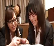 Naughty Japanese secretary