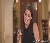 Beauties have fun in Swingers party