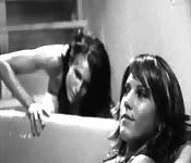 A strangely covered lesbian scene.