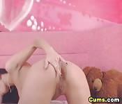 Sgualdrinella sexy si masturba