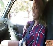 Jill Kassidy gets banged in a strangers car