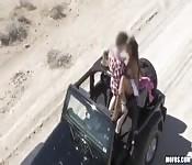 Balade coquine en voiture